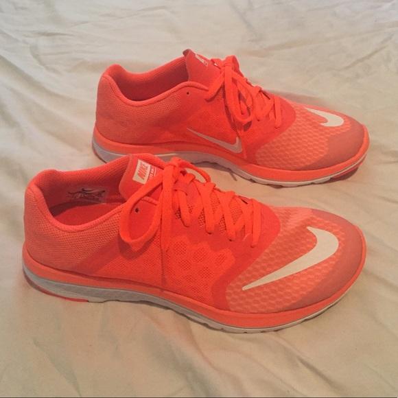 more photos ac89d c4e5d Bright Nike orange pink face lite run 3 sneakers. M 5be988489e6b5b59e72ed4de